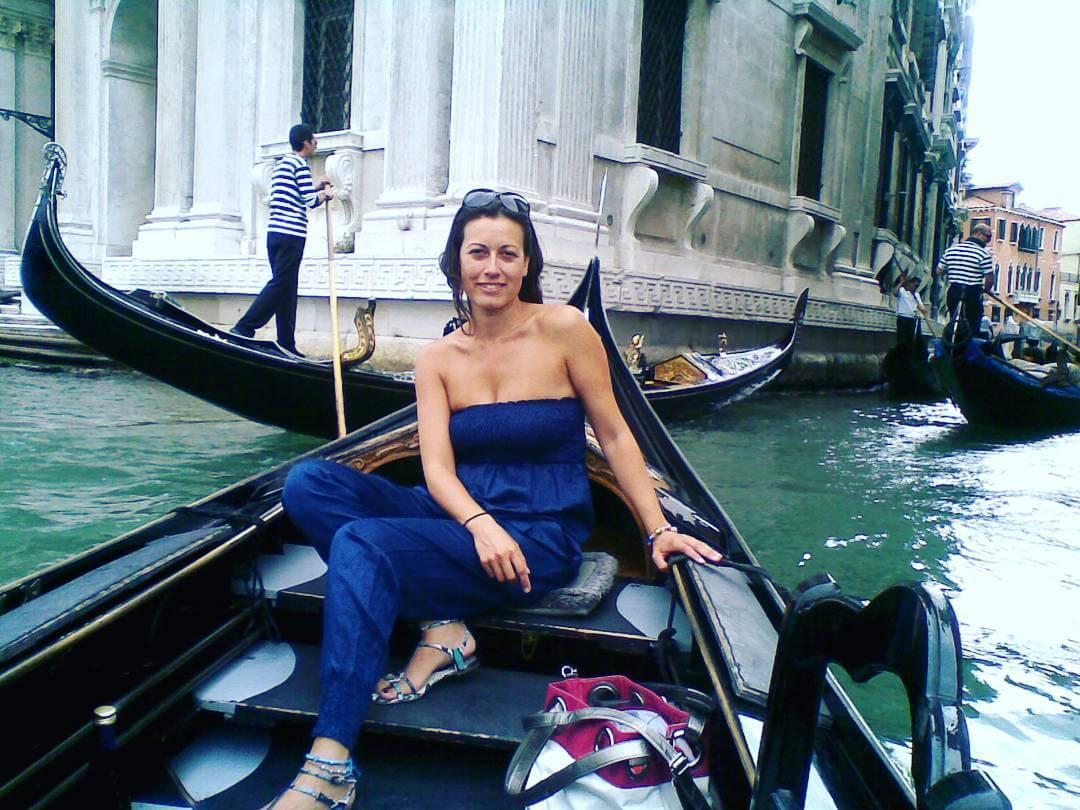 Patriplanner en una góndola en Venecia